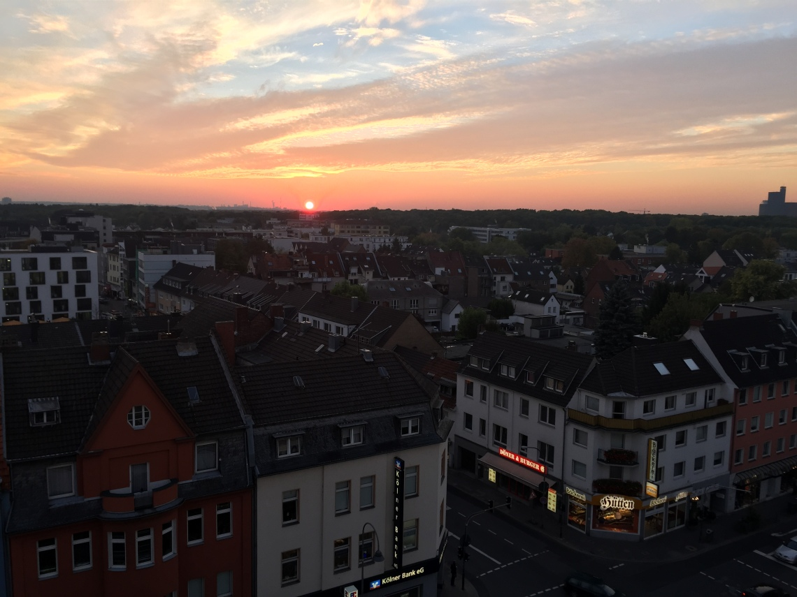 Sunset on Rodenkirchen
