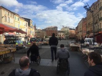 Touring Toulouse.