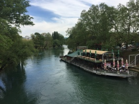 Vrbas River and restaurant.