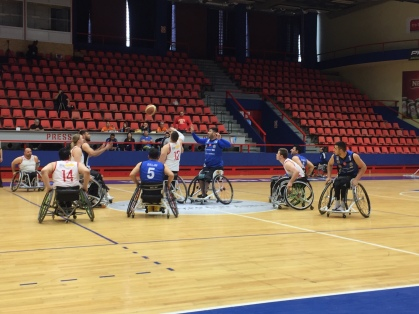 Wheelchair basketball in Bosnia.